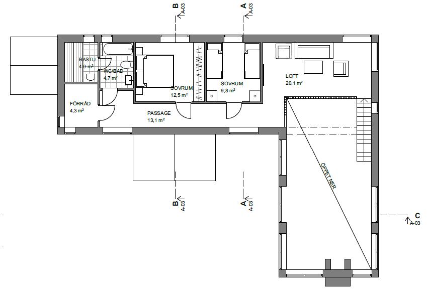 Fritidshus i Idre plan 2